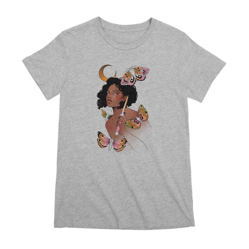 Moths and Dagger Women's Premium T-Shirt by Kobrah's Artist Shop