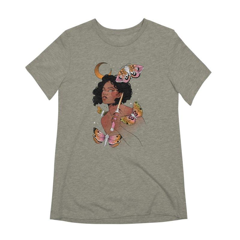 Moths and Dagger Women's Extra Soft T-Shirt by Kobrah's Artist Shop