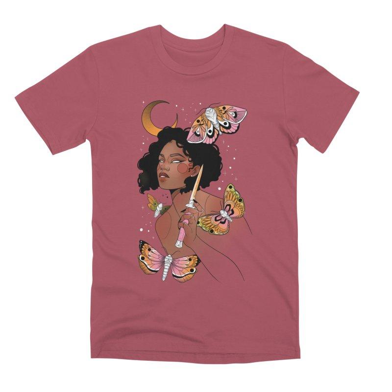 Moths and Dagger Men's Premium T-Shirt by Kobrah's Artist Shop