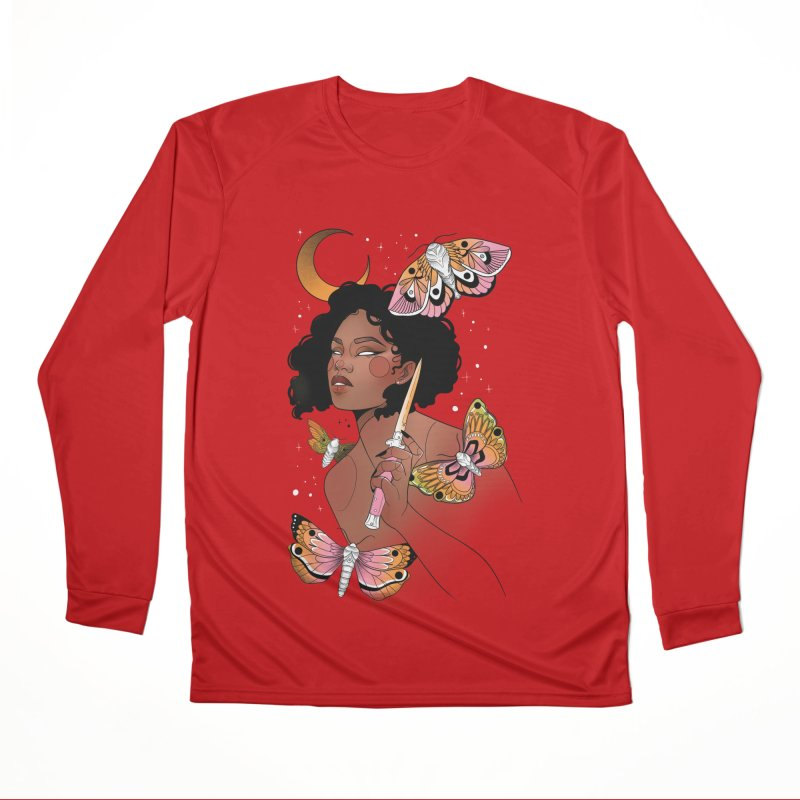 Moths and Dagger Women's Performance Unisex Longsleeve T-Shirt by Kobrah's Artist Shop
