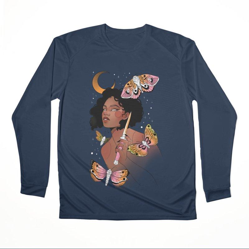 Moths and Dagger Men's Performance Longsleeve T-Shirt by Kobrah's Artist Shop