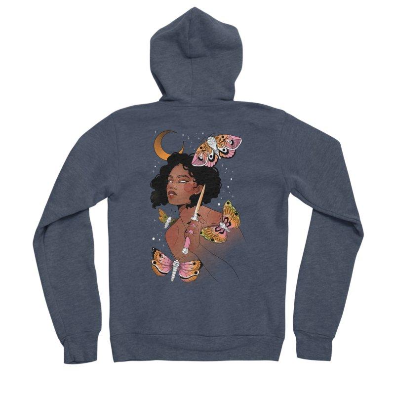 Moths and Dagger Women's Sponge Fleece Zip-Up Hoody by Kobrah's Artist Shop