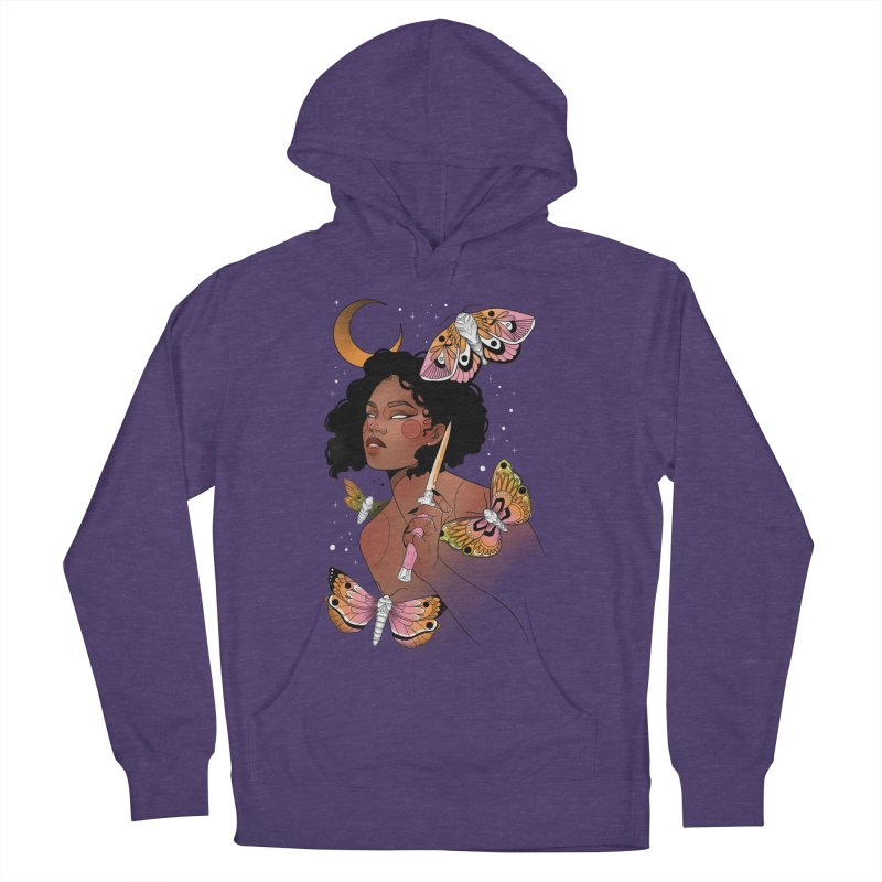 Moths and Dagger Women's French Terry Pullover Hoody by Kobrah's Artist Shop