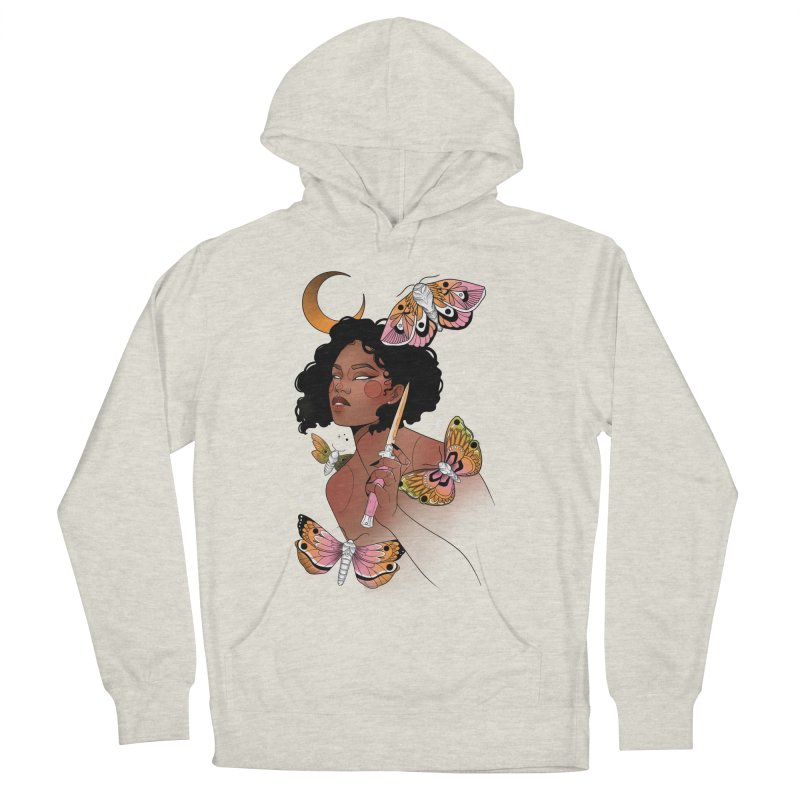 Moths and Dagger Men's French Terry Pullover Hoody by Kobrah's Artist Shop