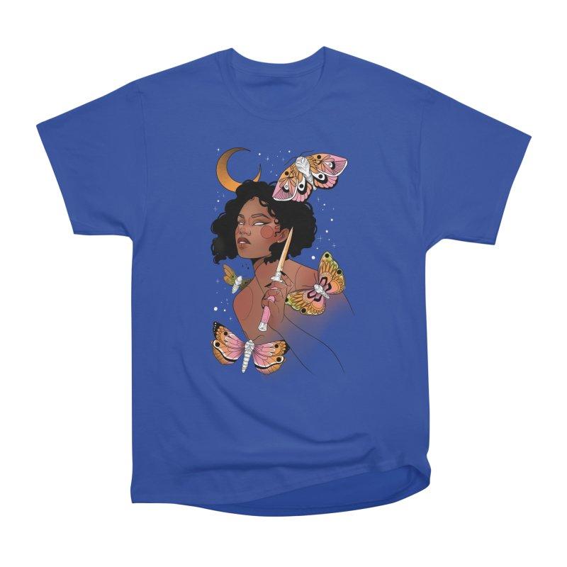 Moths and Dagger Men's Heavyweight T-Shirt by Kobrah's Artist Shop