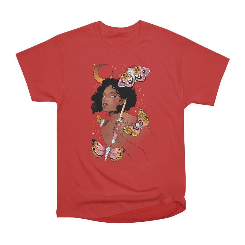 Moths and Dagger Women's Heavyweight Unisex T-Shirt by Kobrah's Artist Shop