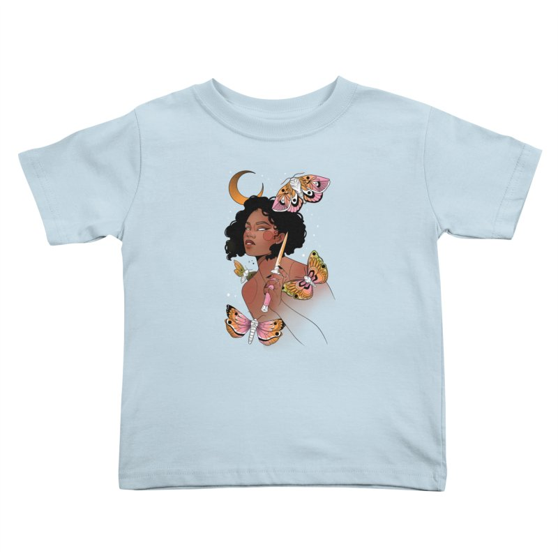Moths and Dagger Kids Toddler T-Shirt by Kobrah's Artist Shop