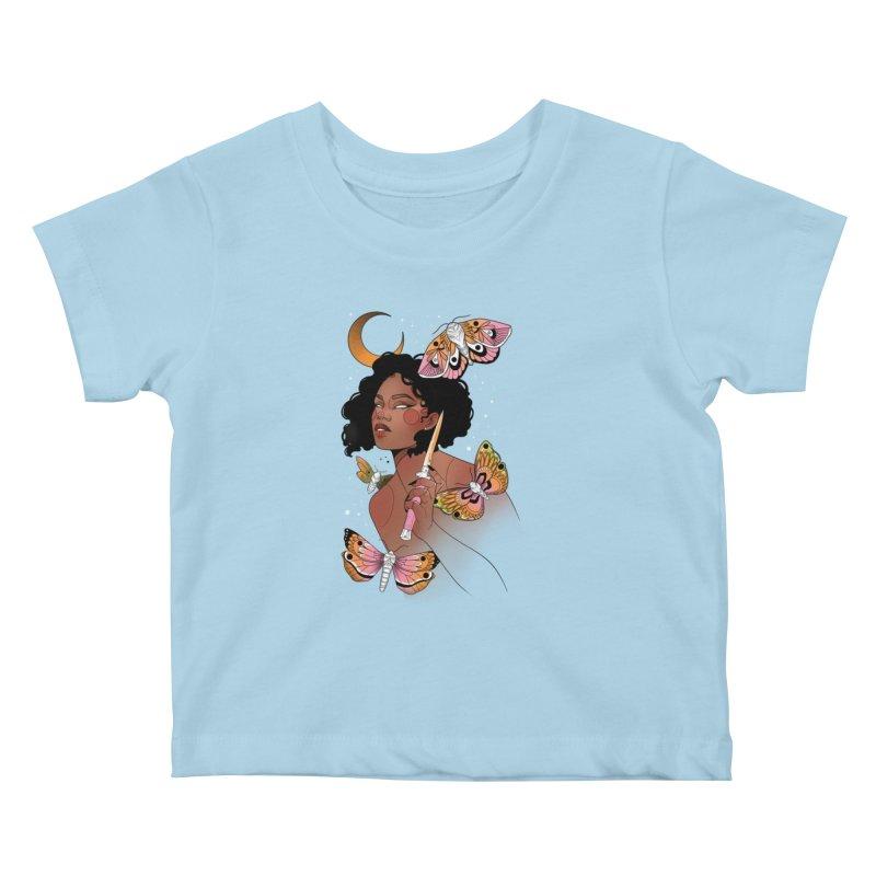 Moths and Dagger Kids Baby T-Shirt by Kobrah's Artist Shop