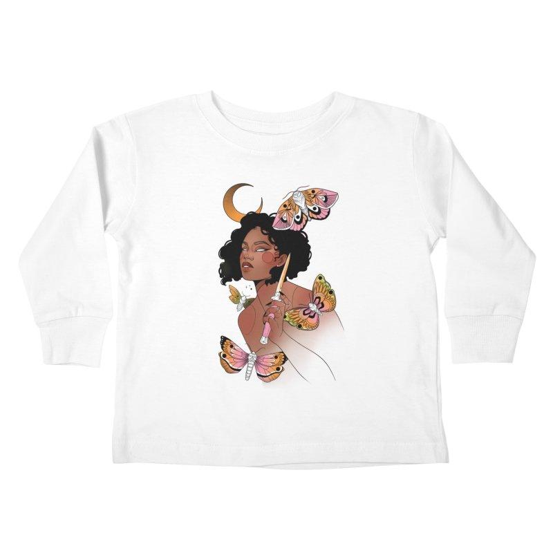 Moths and Dagger Kids Toddler Longsleeve T-Shirt by Kobrah's Artist Shop