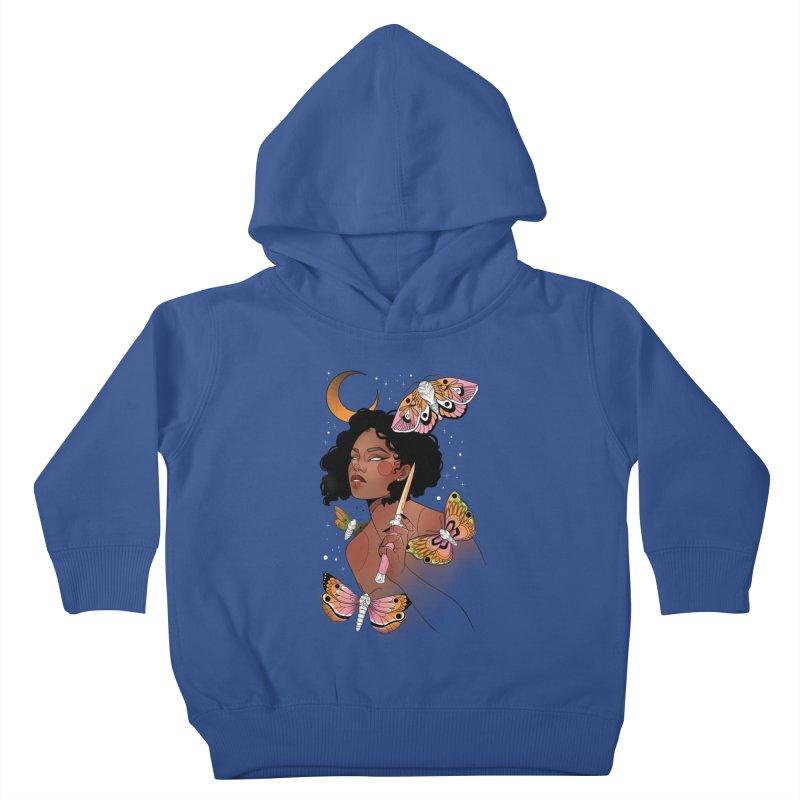 Moths and Dagger Kids Toddler Pullover Hoody by Kobrah's Artist Shop