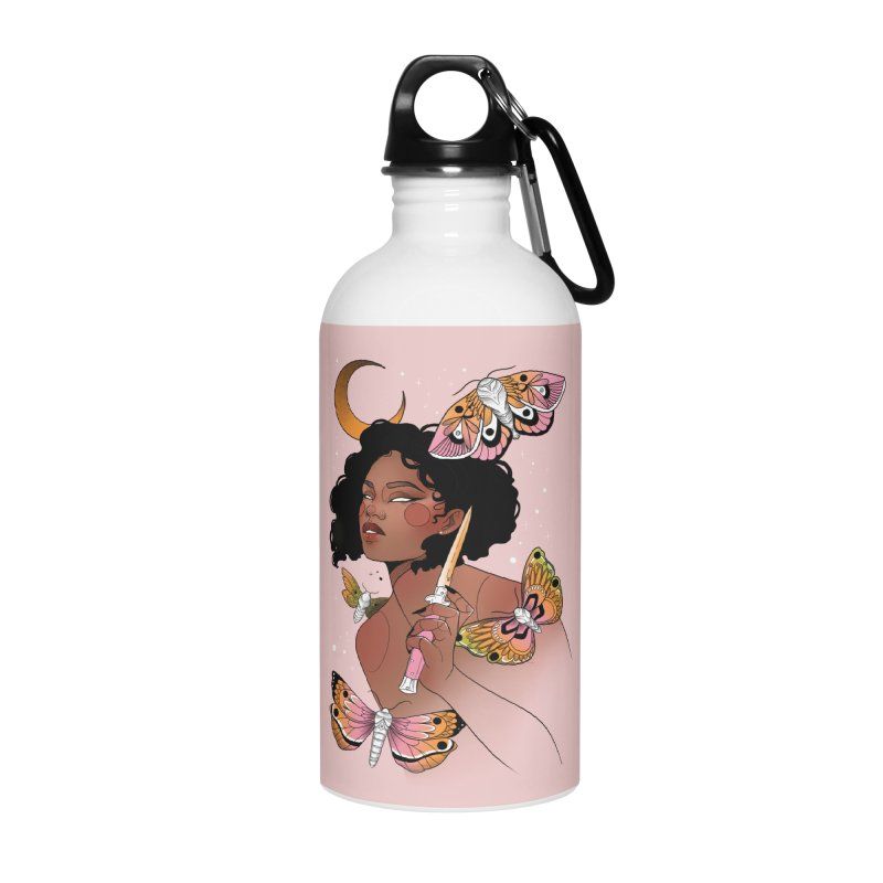 Moths and Dagger Accessories Water Bottle by Kobrah's Artist Shop