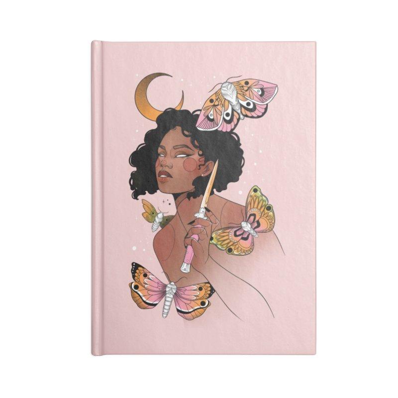 Moths and Dagger Accessories Lined Journal Notebook by Kobrah's Artist Shop