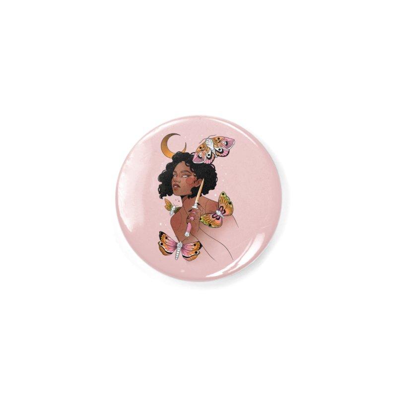 Moths and Dagger Accessories Button by Kobrah's Artist Shop