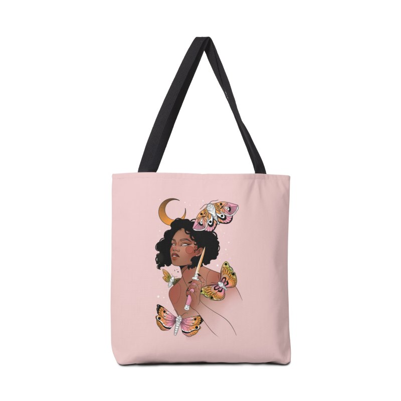Moths and Dagger Accessories Tote Bag Bag by Kobrah's Artist Shop