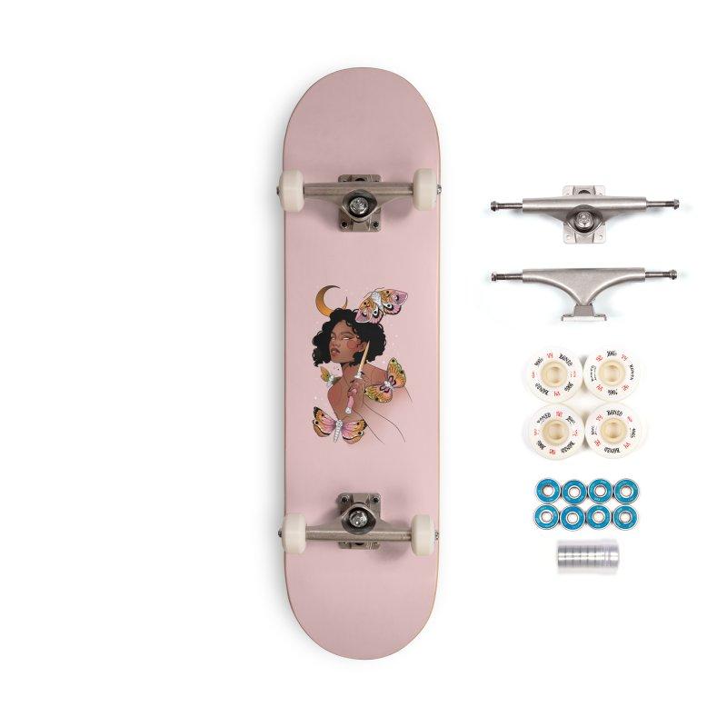 Moths and Dagger Accessories Complete - Premium Skateboard by Kobrah's Artist Shop