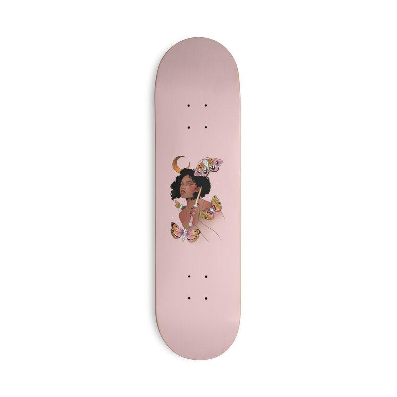 Moths and Dagger Accessories Deck Only Skateboard by Kobrah's Artist Shop