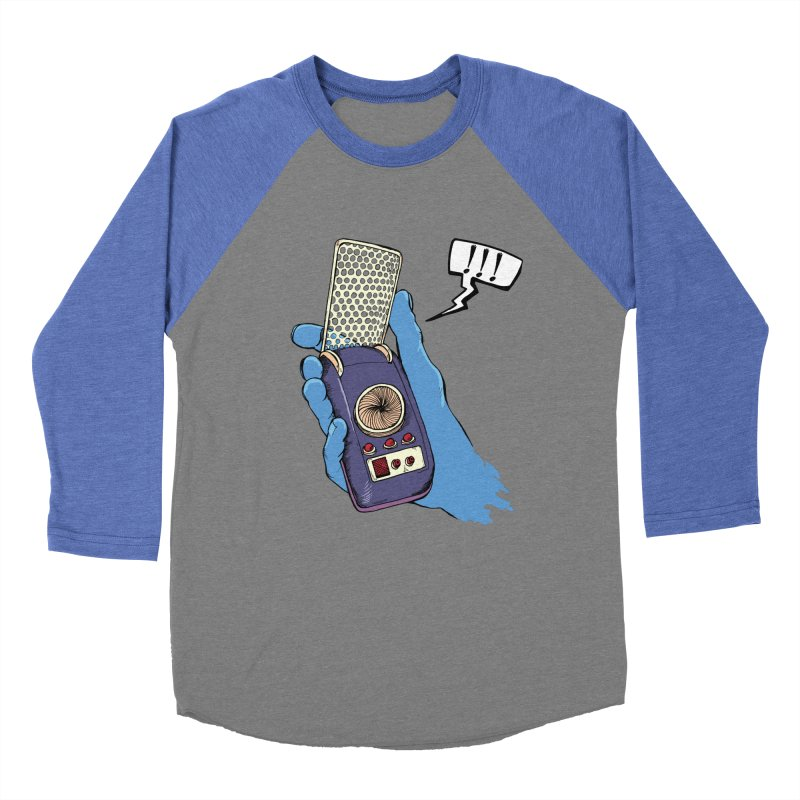 Bad Communication Men's Baseball Triblend Longsleeve T-Shirt by Kodi Sershon