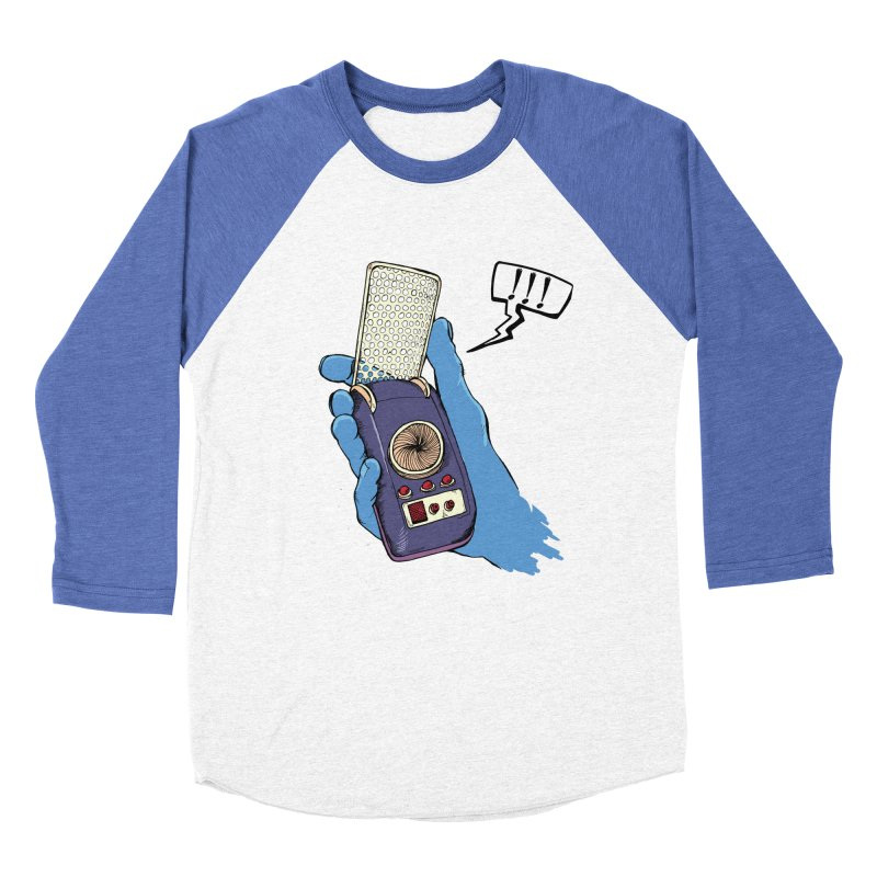 Bad Communication Men's Baseball Triblend T-Shirt by Kodi Sershon
