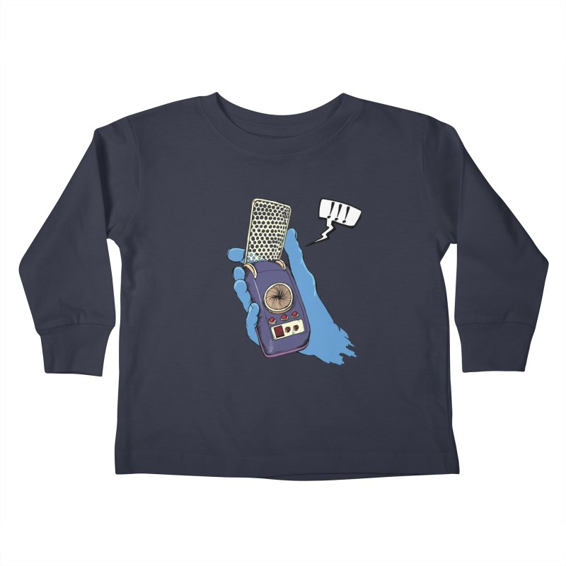 Bad Communication Kids Toddler Longsleeve T-Shirt by Kodi Sershon
