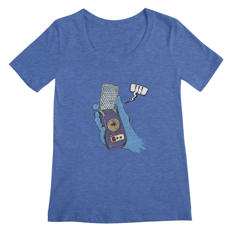 Bad Communication Women's Scoopneck by Kodi Sershon