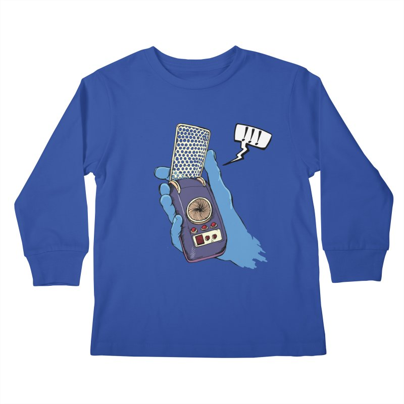 Bad Communication Kids Longsleeve T-Shirt by Kodi Sershon