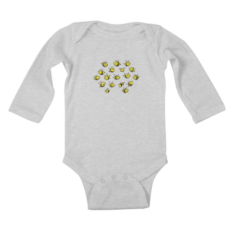 Bees? Kids Baby Longsleeve Bodysuit by Kodi Sershon