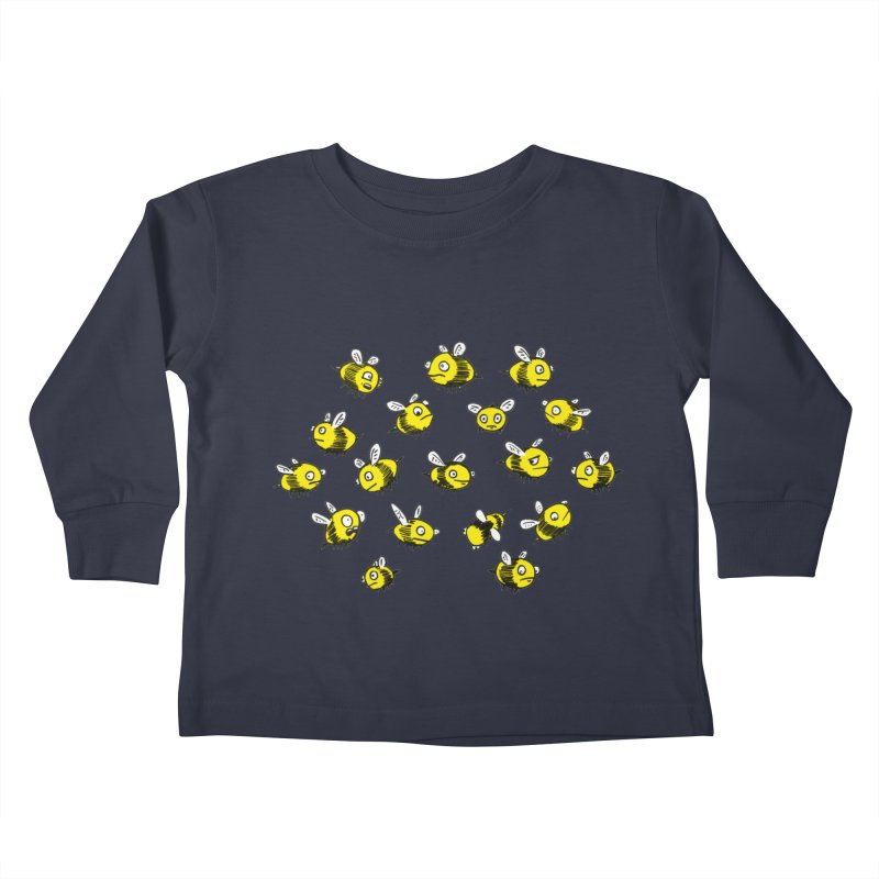 Bees? Kids Toddler Longsleeve T-Shirt by Kodi Sershon