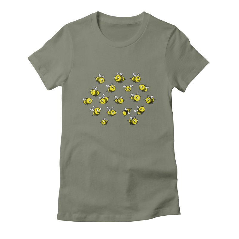 Bees? Women's Fitted T-Shirt by Kodi Sershon