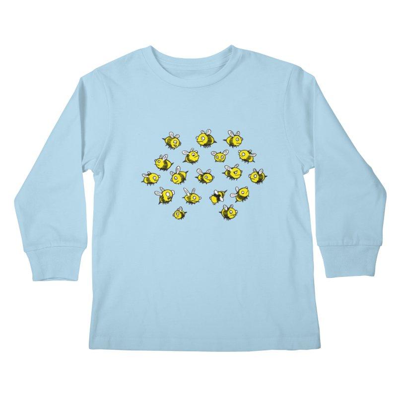 Bees? Kids Longsleeve T-Shirt by Kodi Sershon