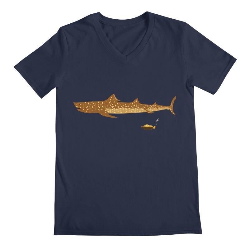 Adventure #12: The Jaguar Shark (Part 2) Men's Regular V-Neck by Kodi Sershon