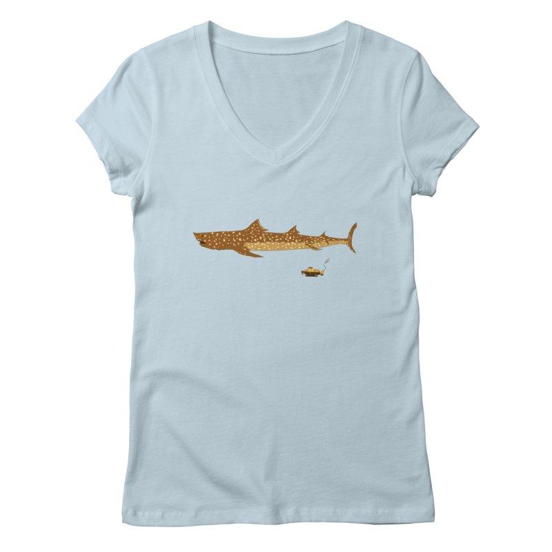 Adventure #12: The Jaguar Shark (Part 2) Women's V-Neck by Kodi Sershon