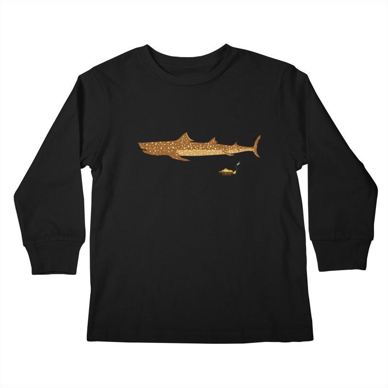 Adventure #12: The Jaguar Shark (Part 2) Kids Longsleeve T-Shirt by Kodi Sershon