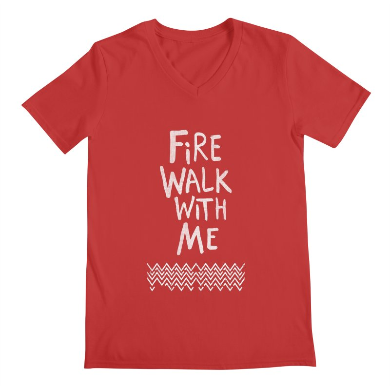 Fire Walk With Me Men's Regular V-Neck by Kodi Sershon