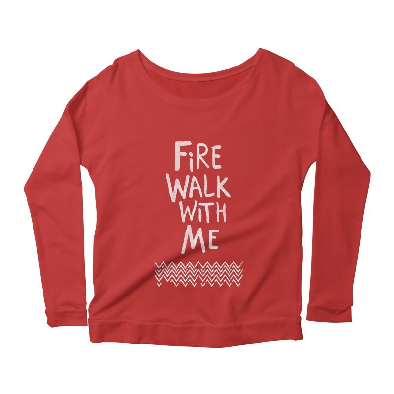 Fire Walk With Me Women's Scoop Neck Longsleeve T-Shirt by Kodi Sershon
