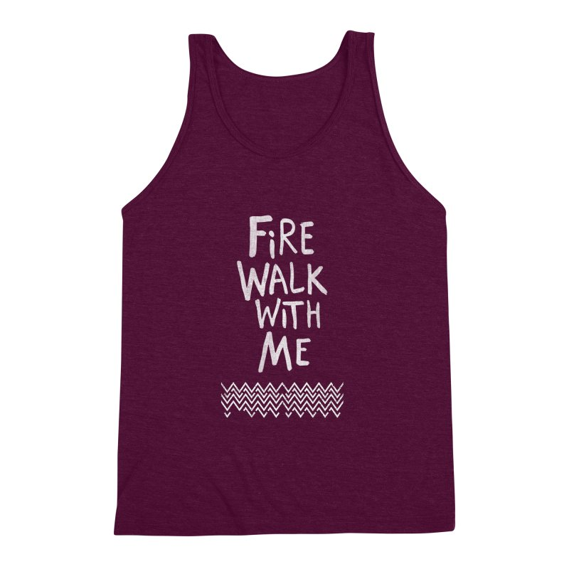 Fire Walk With Me Men's Triblend Tank by Kodi Sershon