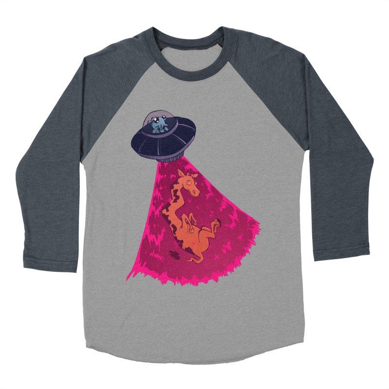 Xip's Awkward Abduction Women's Baseball Triblend T-Shirt by Kodi Sershon