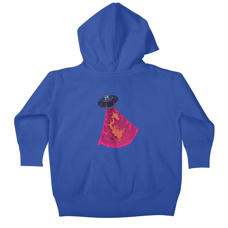 Xip's Awkward Abduction Kids Baby Zip-Up Hoody by Kodi Sershon