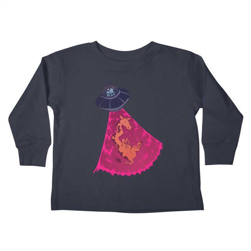 Xip's Awkward Abduction Kids Toddler Longsleeve T-Shirt by Kodi Sershon