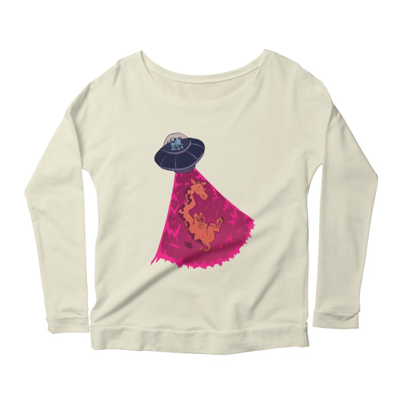 Xip's Awkward Abduction Women's Scoop Neck Longsleeve T-Shirt by Kodi Sershon