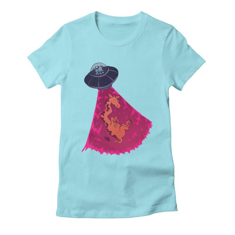 Xip's Awkward Abduction Women's Fitted T-Shirt by Kodi Sershon