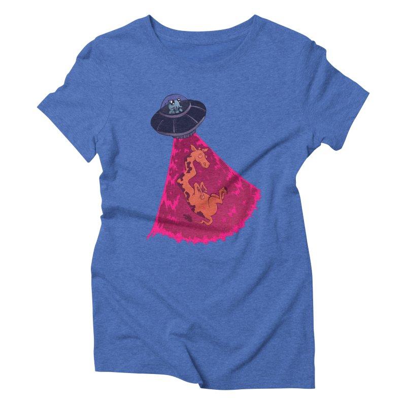 Xip's Awkward Abduction Women's Triblend T-shirt by Kodi Sershon