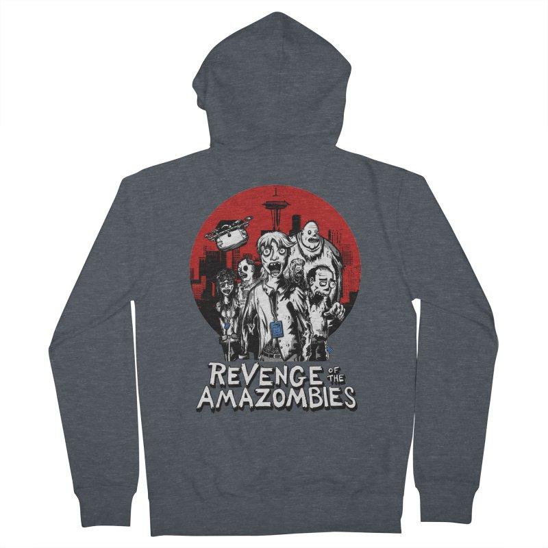 Revenge of the Amazombies Men's Zip-Up Hoody by Kodi Sershon