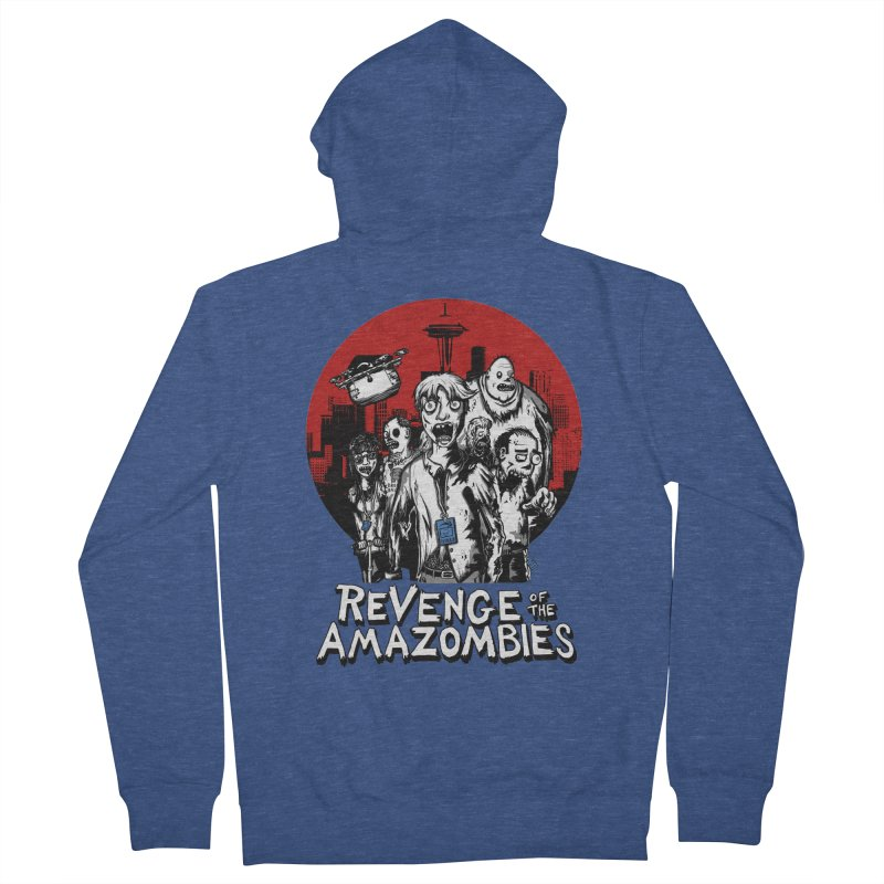 Revenge of the Amazombies Men's French Terry Zip-Up Hoody by Kodi Sershon