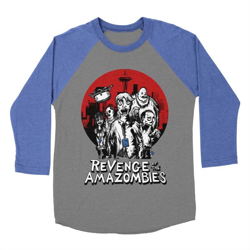 Revenge of the Amazombies Men's Baseball Triblend Longsleeve T-Shirt by Kodi Sershon