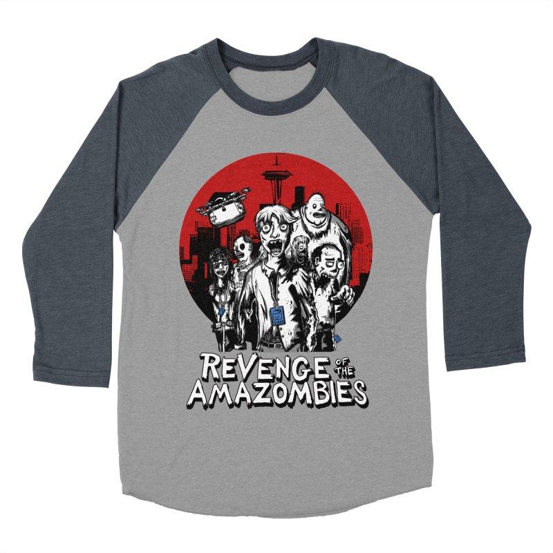 Revenge of the Amazombies Men's Baseball Triblend T-Shirt by Kodi Sershon