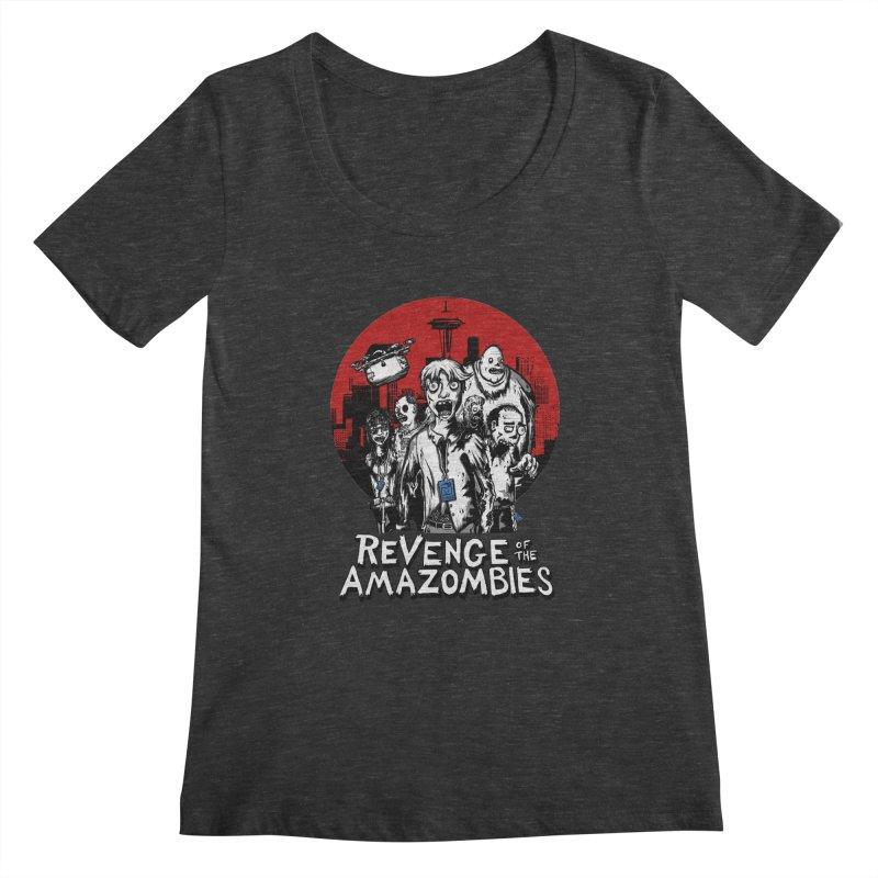 Revenge of the Amazombies Women's Scoopneck by Kodi Sershon