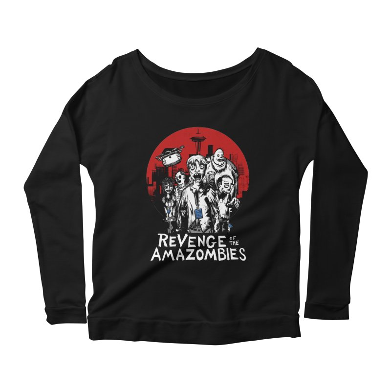 Revenge of the Amazombies Women's Scoop Neck Longsleeve T-Shirt by Kodi Sershon