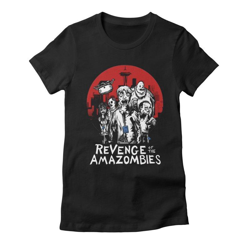 Revenge of the Amazombies Women's Fitted T-Shirt by Kodi Sershon