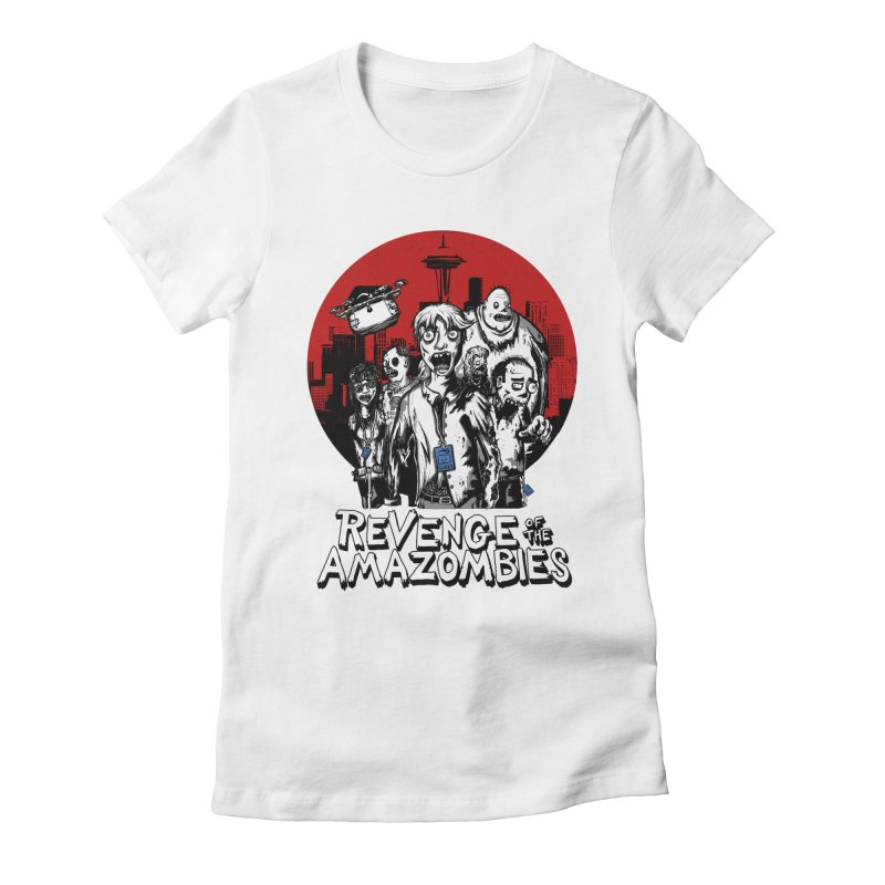 Revenge of the Amazombies Women's Fitted T-Shirt by Kodi Sershon