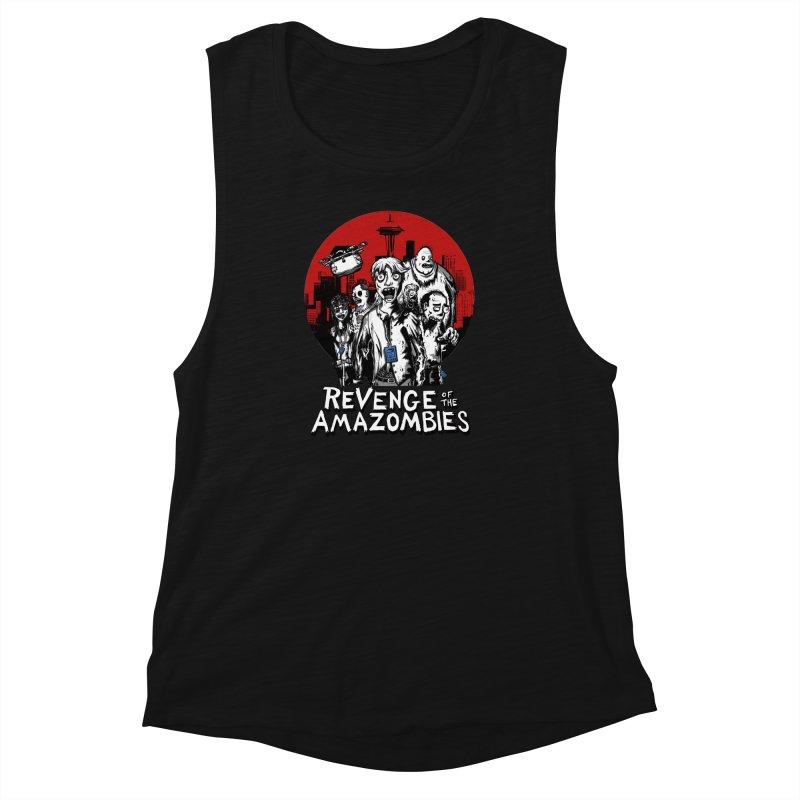 Revenge of the Amazombies Women's Muscle Tank by Kodi Sershon